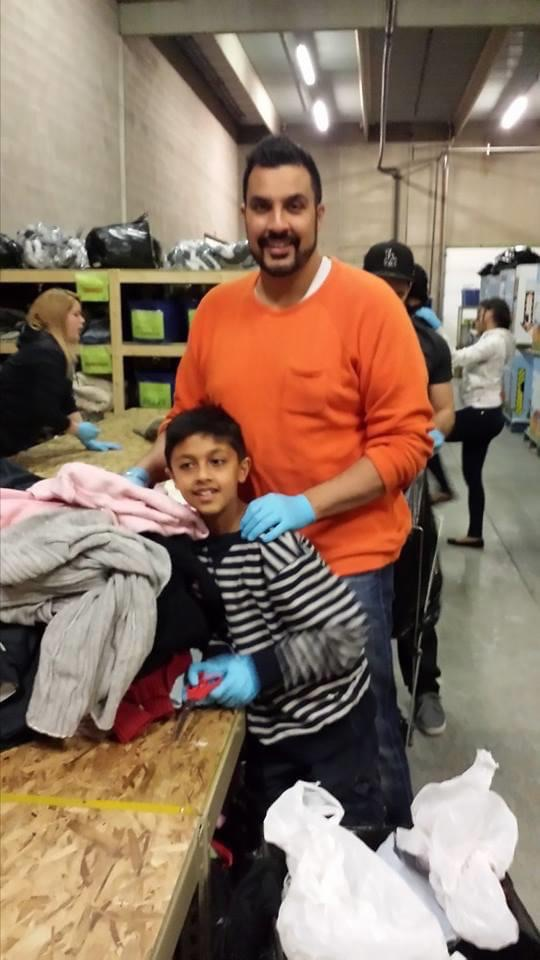 Dr. Volinder Dhesi of 4th Street Dental and Bridgeland Crossings Dental volunteering at the Mustard Seed
