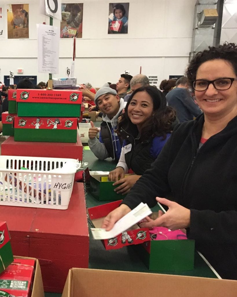 Ranchlands Dental team volunteering for Operation Christmas Child