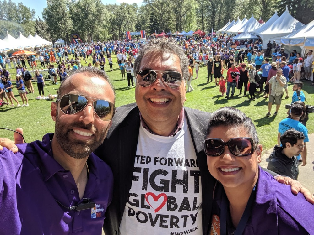 World Partnership Walk With Dr. Jan Jaffer and Mayor Naheed Nenshi